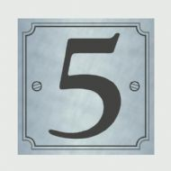 Classic Designs House Number Silver - No 5